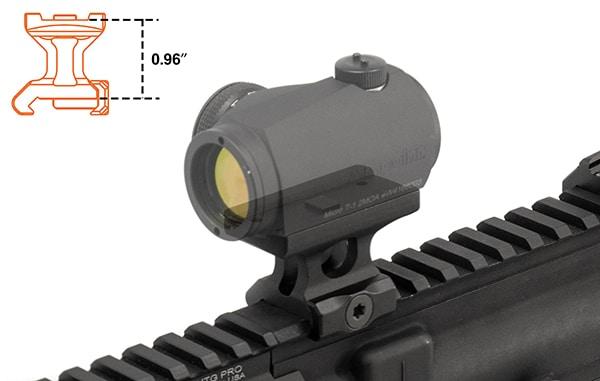 UTG Super Slim T1 Absolute Co-witness Mount-3657