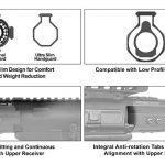 UTG PRO M-LOK® AR15 15 Inch Ultra Slim Rail, Black & Red 2-Tone-5032