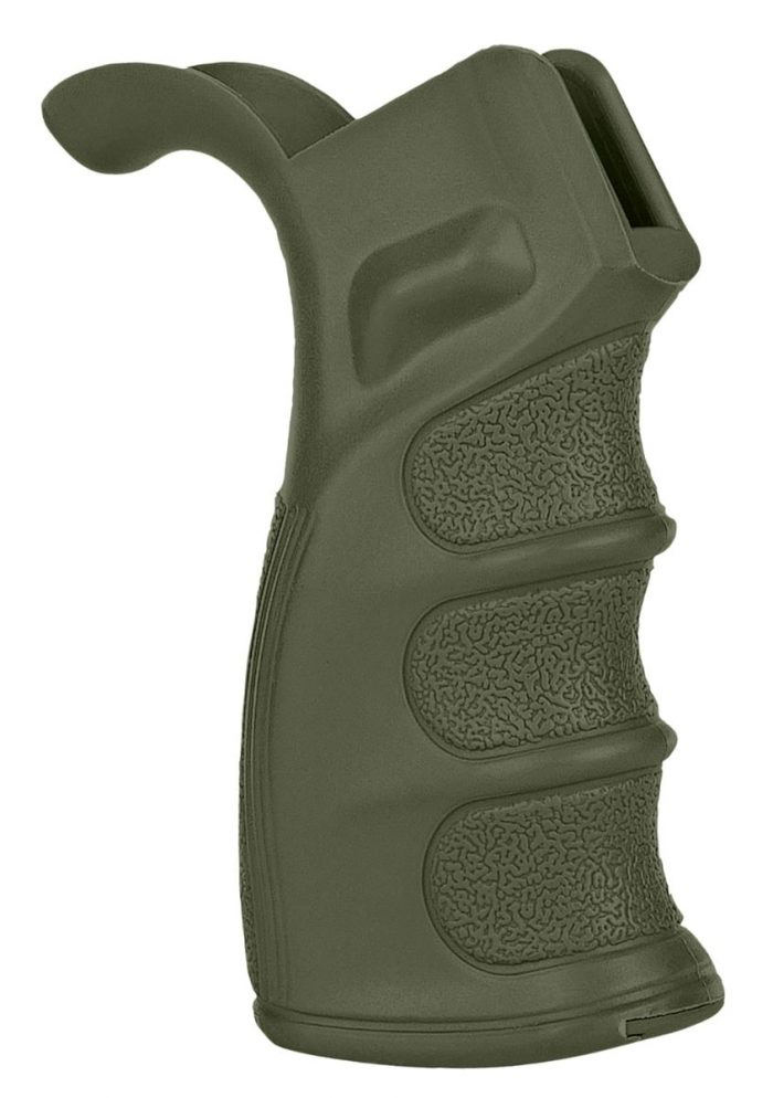 OD Green DMR Pistol Grip KM Tactical AR 15 Grip Glock P80