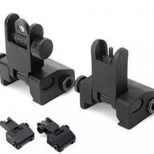 Aluminum Flip Up Sights KM Tactical AR 15 Picatinny Glock P80 KM Tactical