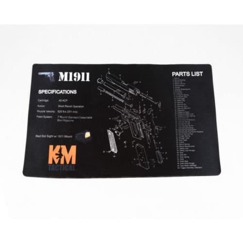 KM Tactical 1911 Benchtop Mat-0
