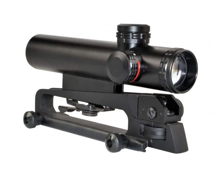 4x20MM Compact Rifle Scope W/ Picatinny and Carry Handle Mount-0