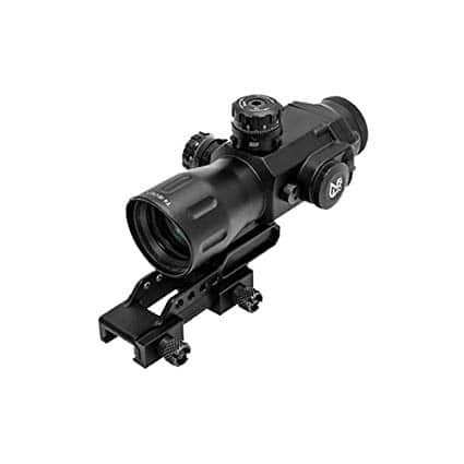 UTG Compact Prismatic 4X32 T4 Scope, 36-Color, Circle Dot-0