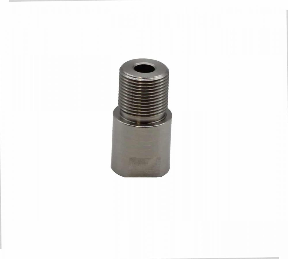 3/8x24 - 1/2x28 Thread Adapter - Stainless-11762