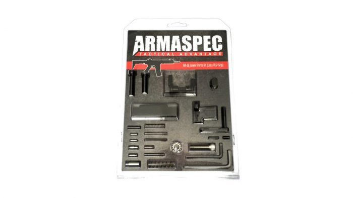 Armaspec AR-15 Lower Parts Kit (Less FCG+Grip) - Black-0