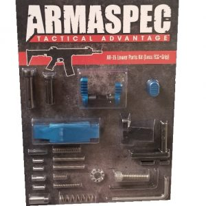 Armaspec AR-15 Lower Parts Kit (Less FCG+Grip) - Blue-0