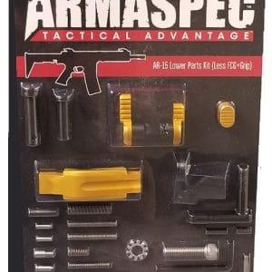 Armaspec AR-15 Lower Parts Kit (Less FCG+Grip) - Gold-0