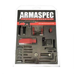 Armaspec AR-15 Lower Parts Kit (Less FCG+Grip) - Red-0