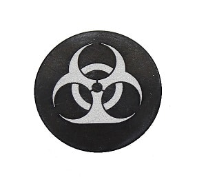 Bio-hazardous Oversized Magazine Button-0