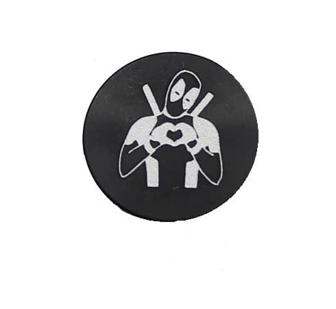 Deadpool Oversized Magazine Button-0