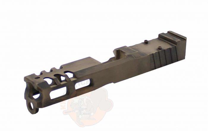 GLOCK 19 Raptor Series Slide - Battleworn FDE KM Tactical