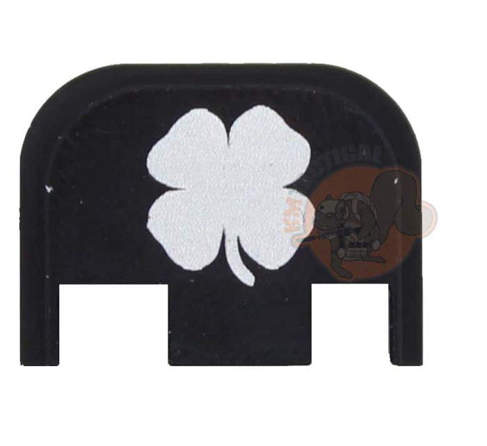 4 Leaf Clover Engraved Glock Back Plate (Full Size/G42/G43)-0