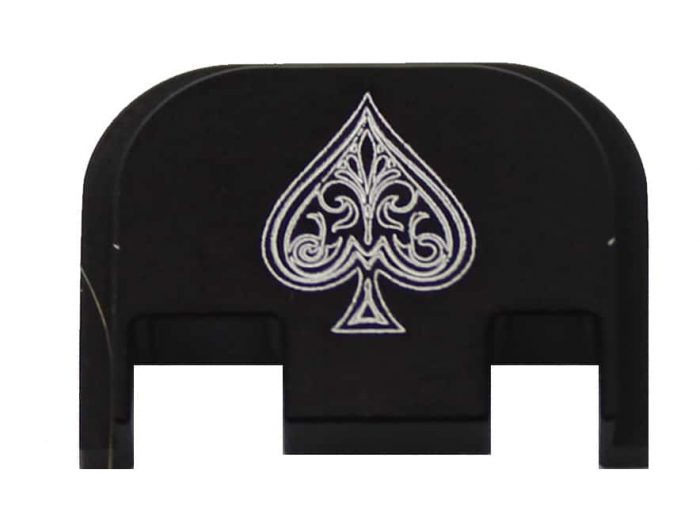 Ace of Spades Engraved Glock Back Plate (Full Size/G42/G43)-0