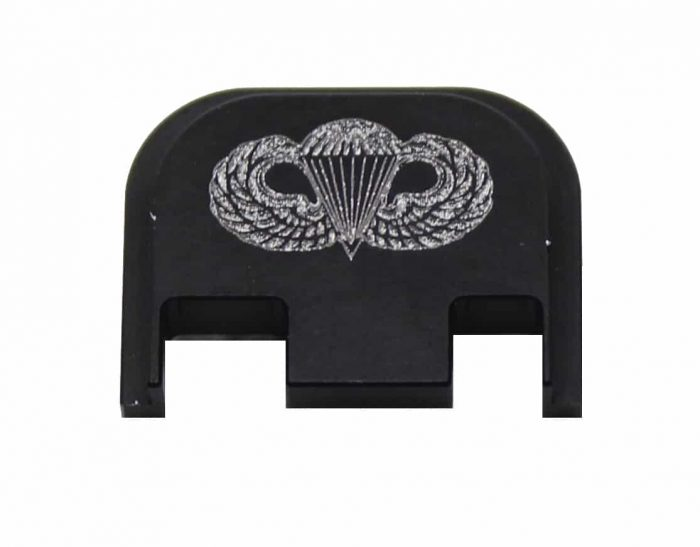 Airborne Army Engraved Glock Back Plate (Full Size/G42/G43)-0