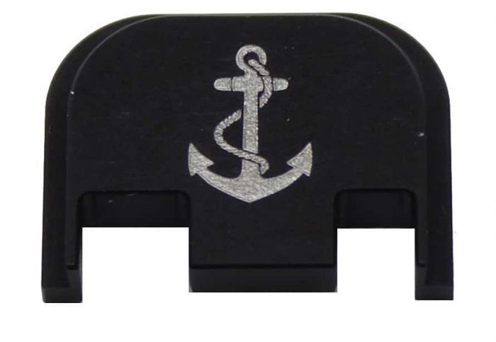 Anchor, Navy Engraved Glock Plate (Full Size/G42,G43)-0