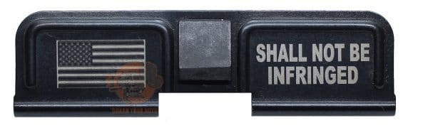 Shall Not Be Infringed Engraved AR 15 Dust Cover-0