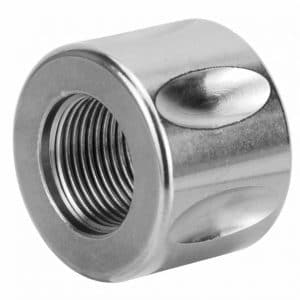 Stainless 5/8x24 Bull Barrel Fluted Thread Protector-0