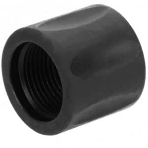 5/8x24 Black Fluted Thread Protector (Black Out) KM Tactical