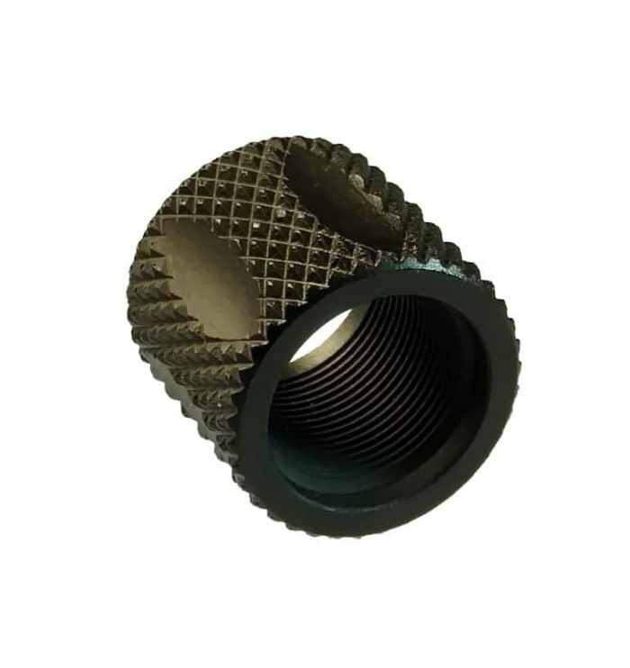 1/2x28 Knurled Fluted Thread Protector-0