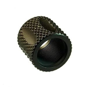 9/16X24 Knurled & Fluted Pistol Length Thread Protector-0