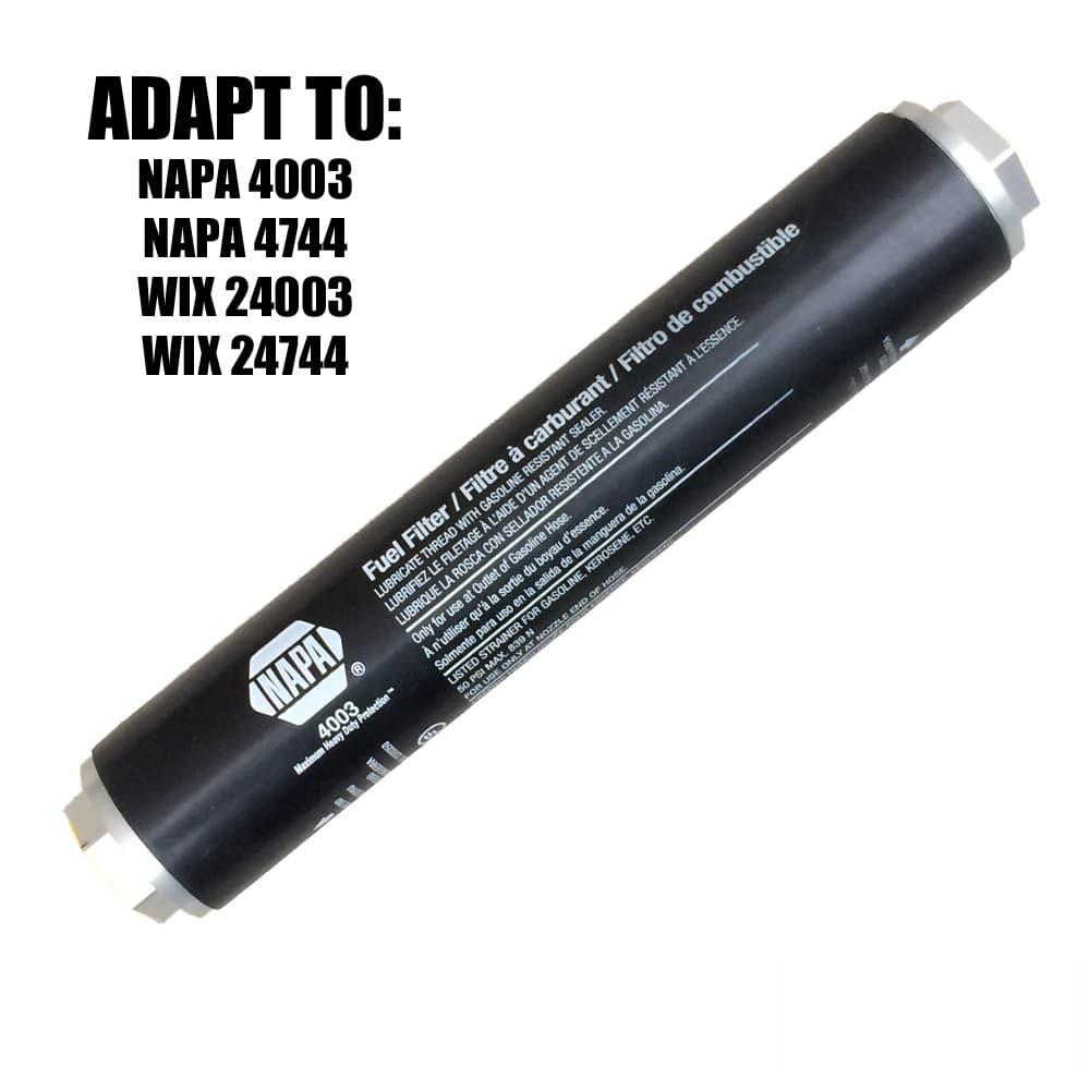 5/8-24 RH to 3/4 NPT Thread Adapter (WIX 24003, NAPA 4003)-12257