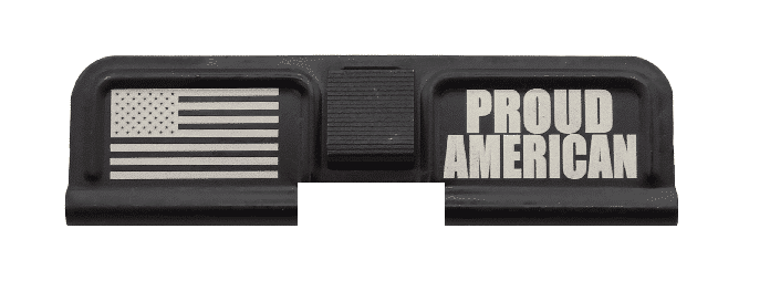 Proud American Engraved Dust Cover - AR 15-0