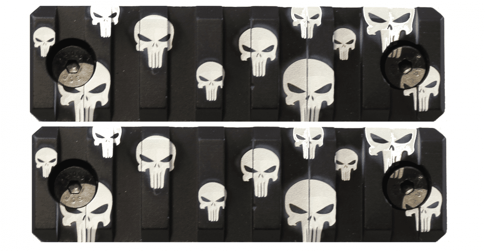 2 Pack Punisher Skulls Keymod Mini Rail KM Tactical