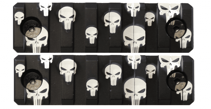 2 Pack Punisher Skulls Keymod Mini Rail KM Tactical
