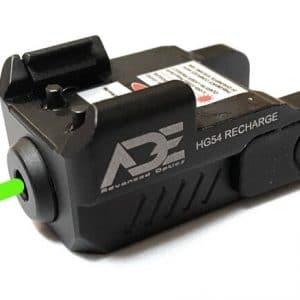 Compact Green Pistol Laser KM Tactical AR 15 Glock P80 Polymer80 LASER-HG54