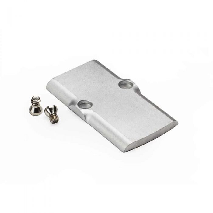LoneWolf RMR Silver Cover Plate w/screws for OEM Profile Slides-0
